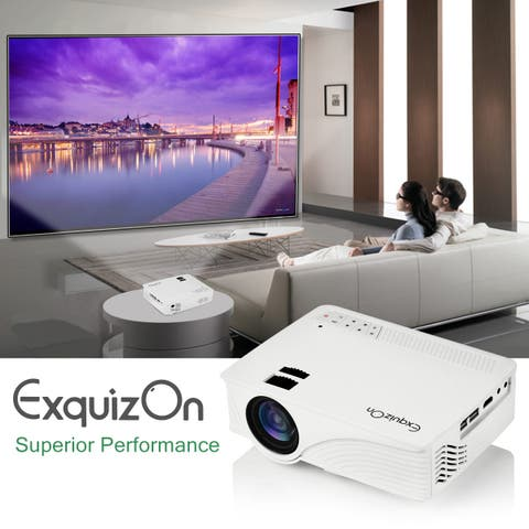 Exquizon LED GP12 Portable Projector 800*480P Support 1080P HDMI USB SD AV Connect