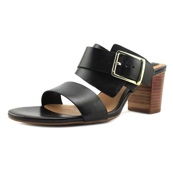 Clarks Narrative Ralene Rose Women Open Toe Leather Black Sandals