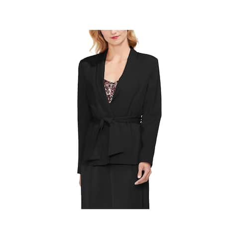 Vince Camuto Womens Open-Front Blazer Satin Shawl Collar