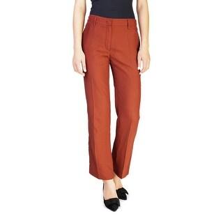 Prada Women's Viscose Slim Fit Chino Pants Brown