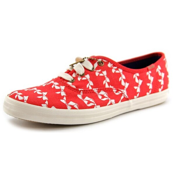 Keds CH TS Bow Stripe Round Toe Canvas Sneakers