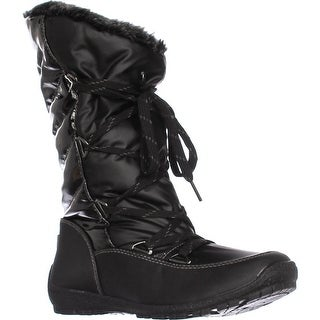 Sporto Charley Faux Fur Lined Snow Boots, Black