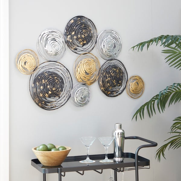 Multi Colored Metal Contemporary Wall Decor 27 x 42 x 1 - 42 x 1 x 27. Opens flyout.