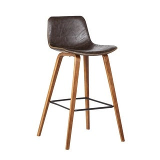 Bromi Design BF2680BR Union 36-7/16 Inch Tall Steel Framed Solid Back Bar Stool