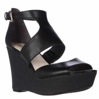 B35 Sophie Wedge Platform Sandals - Black