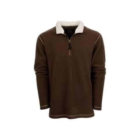 StS Ranchwear Western Sweatshirt Mens Cogburn Fleece Chocolate