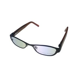 Alfred Sung Opthalmic Eyeglass Modified Rectangle 4763 Black Metal - Medium