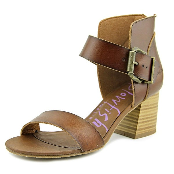 Blowfish Frenzy Women Open Toe Leather Brown Sandals