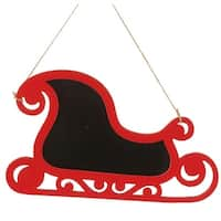 "14""  Alpine Chic Country Rustic Style Red and Black Sleigh Christmas Ornament"