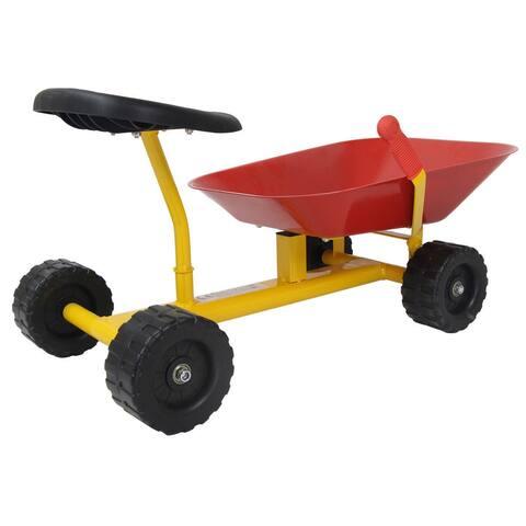 """8"""" Heavy Duty Kids Ride-on Sand Dumper w/ 4 Wheels-Red"""