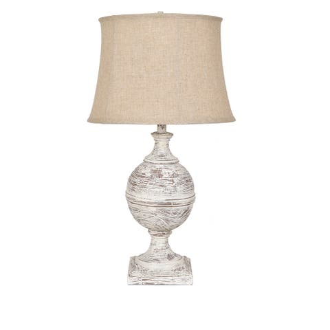 "Post Knob Table Lamp - 30""H x 16.5""Rnd"