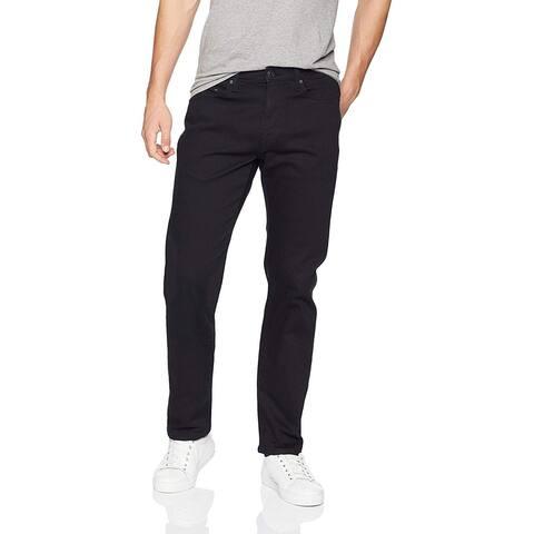 Essentials Men's Straight-Fit Stretch Jean, Black, 33W x 34L - 33W x 34L