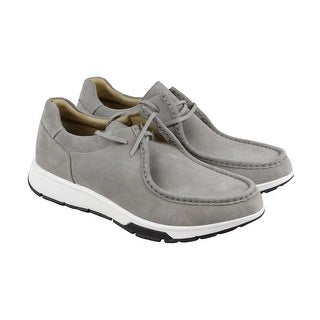 Calvin Klein Kingsley Oily Suede Mens Gray Suede Casual Dress Chukkas Shoes