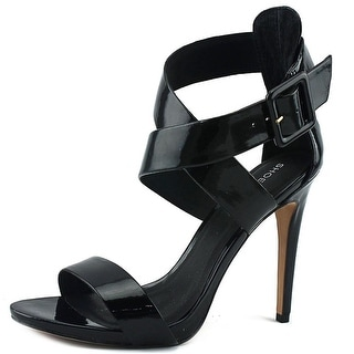 ShoeMint Bree Women  Open Toe Synthetic Black Sandals