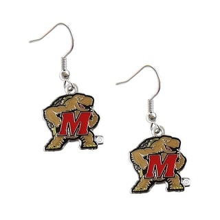 Maryland Terps Terrapins Dangle Logo Earring Set NCAA Charm Gift