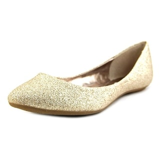 Steve Madden P-Heaven Women Round Toe Canvas Gold Flats