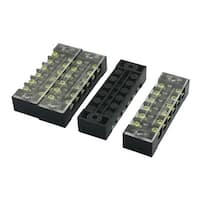 Unique Bargains 4 Pcs Dual Row 12 Screw Terminal Electric Barrier Cable Connector Block