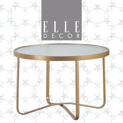 Elle Decor Mirabelle Outdoor Coffee Table, French Gold