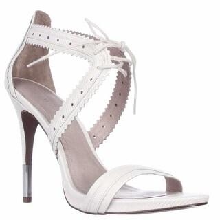 Pour La Victoire Shanna Front Tie Sandals, Cream