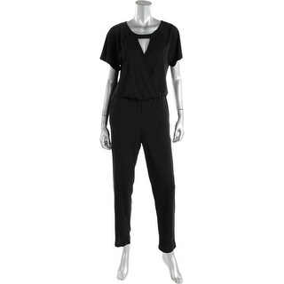 Vince Camuto Womens Plus Keyhole Short Sleeve Jumpsuit - 1X