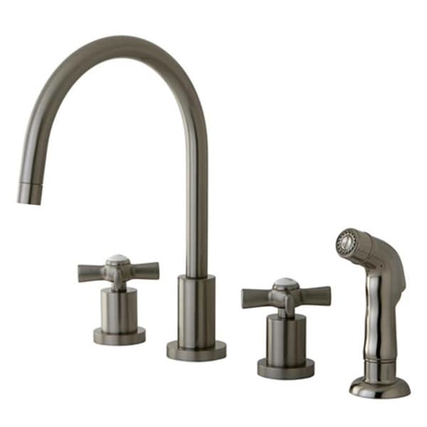 Millennium Widespread Kitchen Faucet Satin Nickel Free Shipping