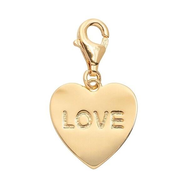 Julieta Jewelry 'Love' Heart Plate Clip-On Charm