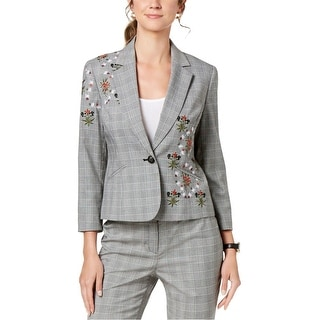 Link to Nine West Womens Embroidered One Button Blazer Jacket Similar Items in Suits & Suit Separates