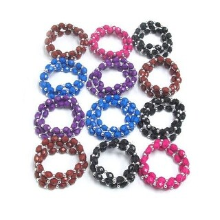 Assorted Color and Mix Acrylic Stone Stretch Bracelet