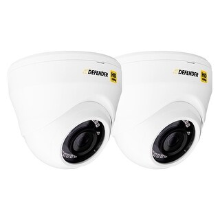Defender HD 1080p Indoor/Outdoor Long Range Night Vision 2 Pack Dome Security Cameras