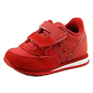 Saucony Baby Jazz HL Infant Round Toe Leather Red Sneakers