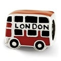 Sterling Silver Reflections Enamel London Double Decker Bus Bead (4mm Diameter Hole) - Thumbnail 0