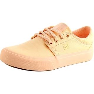 DC Shoes Trase TX Women Round Toe Canvas Orange Skate Shoe