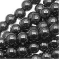 Hematite 4mm Round Beads Metallic Gray / 16 Inch Strand - Thumbnail 0