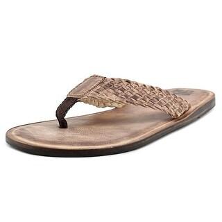 29 Porter Rd Dryden Men Open Toe Leather Tan Thong Sandal