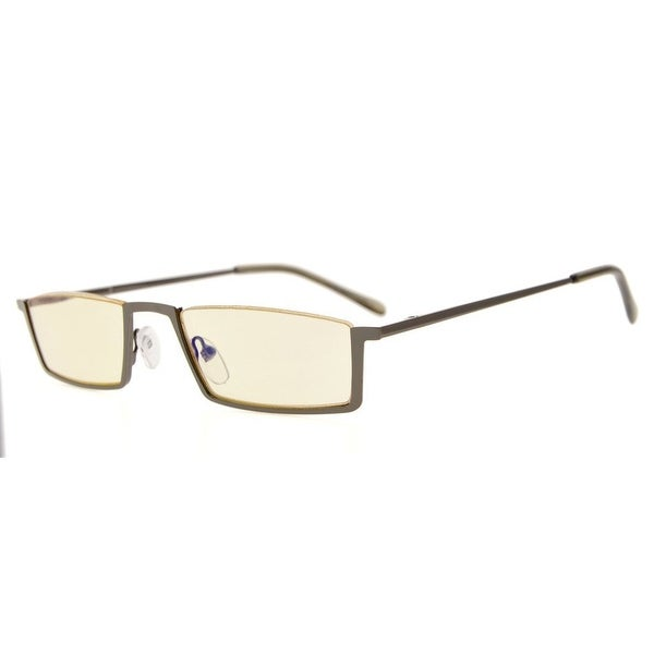 Eyekepper Quality Spring Hinges Half-Rim Computer Readers Reading Glasses (Yellow Lens, +1.75)