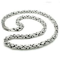 Stainless Steel Imperial Box Necklace - 24 inches