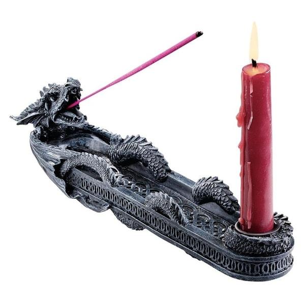 Design Toscano The Dragon of Trelawny Manor Sculptural Incense Burner