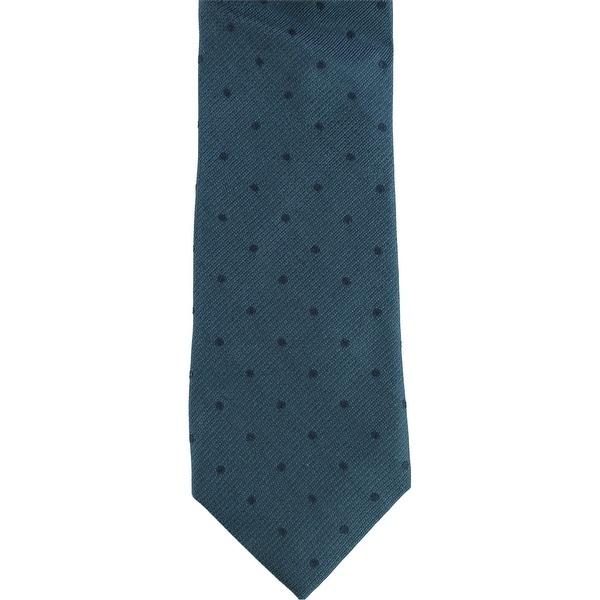 Calvin Klein Mens Subtle Dot Self-tied Necktie, blue, One Size - One Size. Opens flyout.