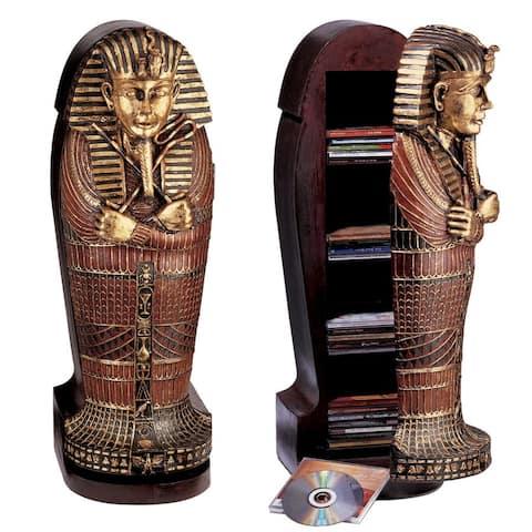 Design Toscano Tutankhamen Sarcophagus CD Cabinet
