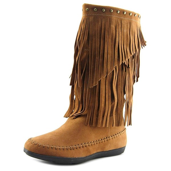 Rampage Careese Women Round Toe Synthetic Brown Mid Calf Boot