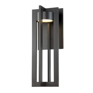 """WAC Lighting WS-W48620 Chamber Single Light 20"""" High Integrated LED Outdoor Wall Sconce"""