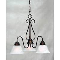 Volume Lighting V2353 Minster 3 Light 1 Tier Chandelier