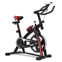 Costway Exercise Bicycle Indoor Bike Cycling Cardio Adjustable Gym Workout Fitness Home - Red