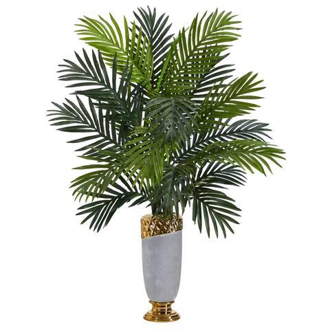 "34"" Areca Palm Artificial Plant in Designer Planter"