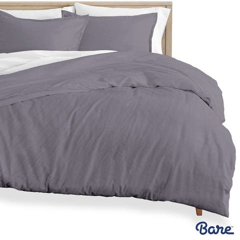 Bare Home Premium Sandwashed Microfiber Duvet Cover & Sham Set