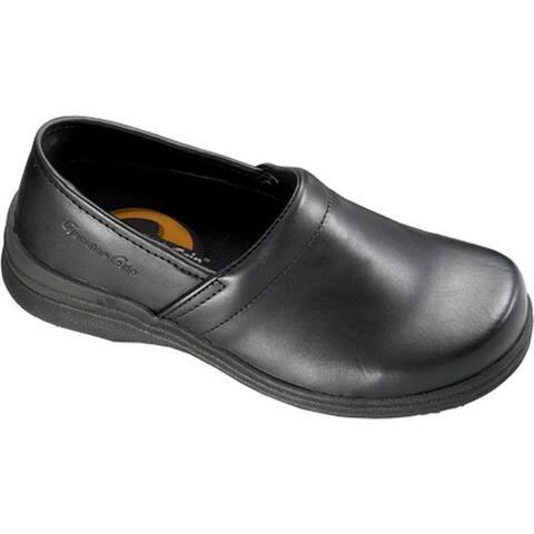Genuine Grip Footwear Women's Slip-Resistant Mule Black Leather