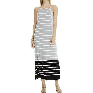 Vince Camuto Womens Maxi Dress Striped Colorblock