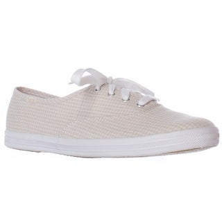 Keds Champion Seersucker Lace Up Fashion Sneakers - Tan