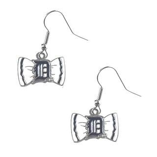 Bow Tie Earrings Detroit Tigers