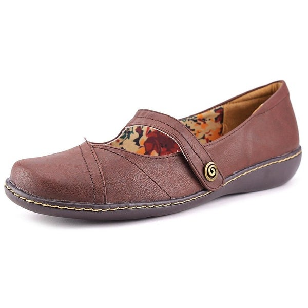 Soft Style by Hush Puppies Jayne  W Round Toe Leather  Mary Janes